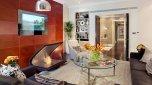 Salon, apartament Jaguara w Londynie