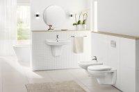Łazienka minimalistyczna, biała