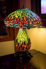lampka nocna z kolorowego szkła