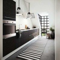 kuchnia w kolorystyce czarno-białej